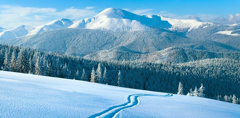 lereng gunung carpathian